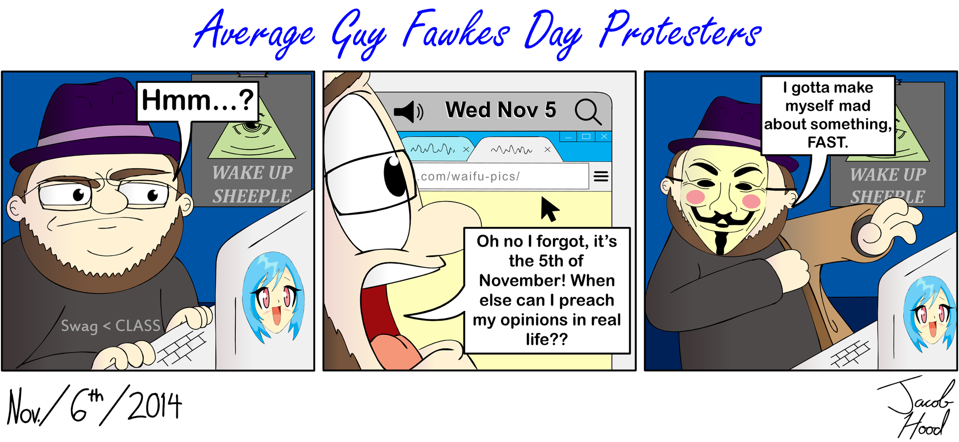 Average Guy Fawkes Day Protesters