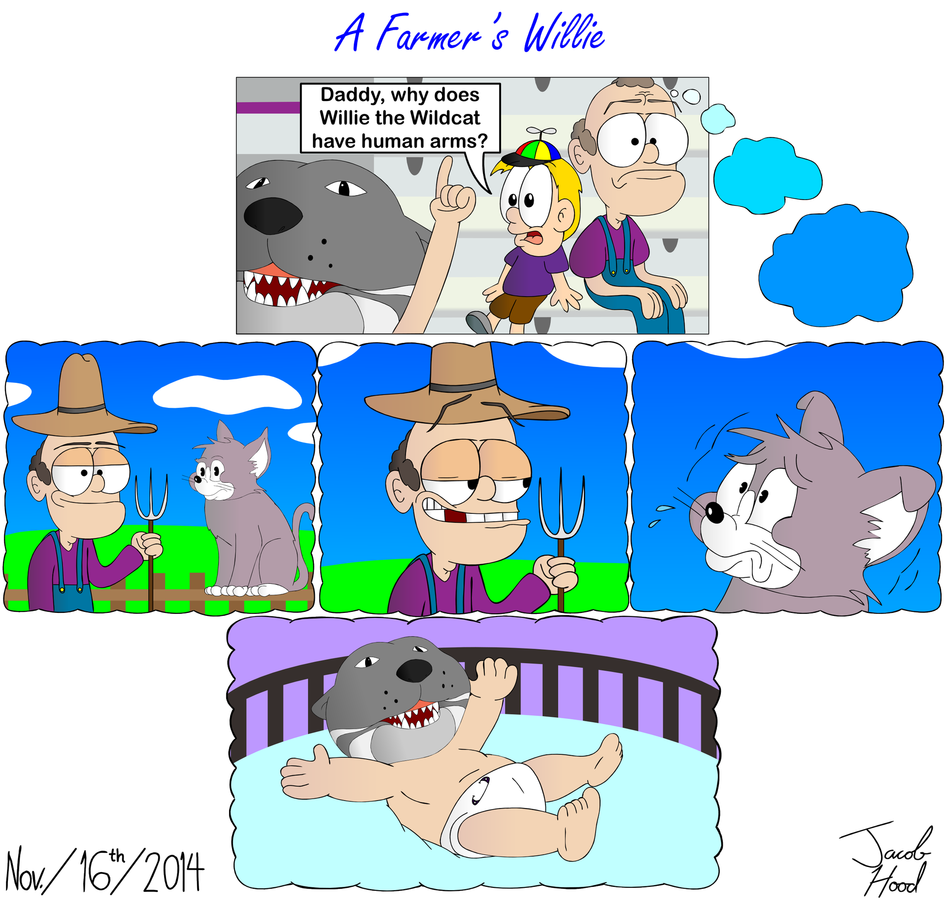 A Farmer's Willie (K-State Cartoon)
