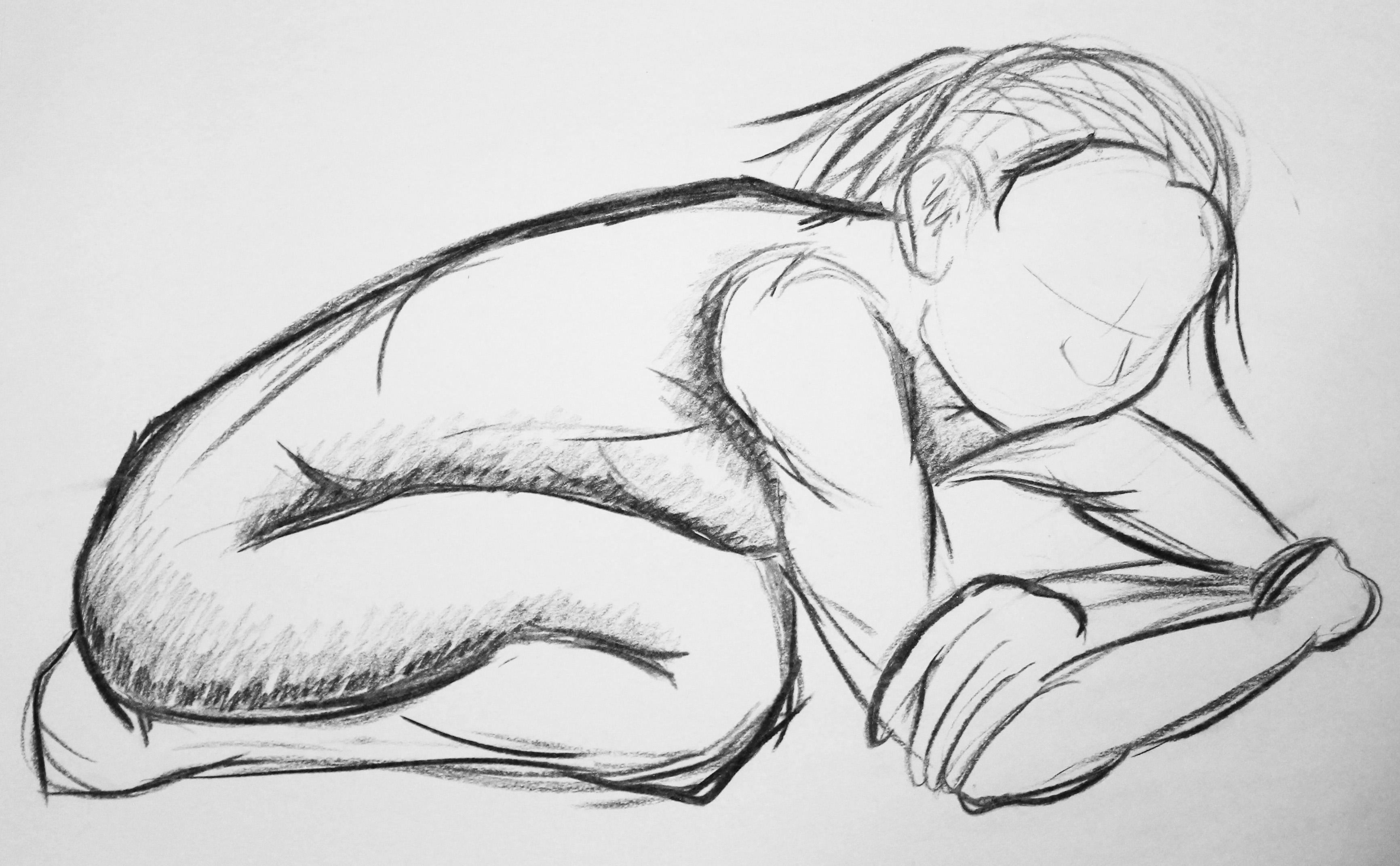 Female Model Crouching