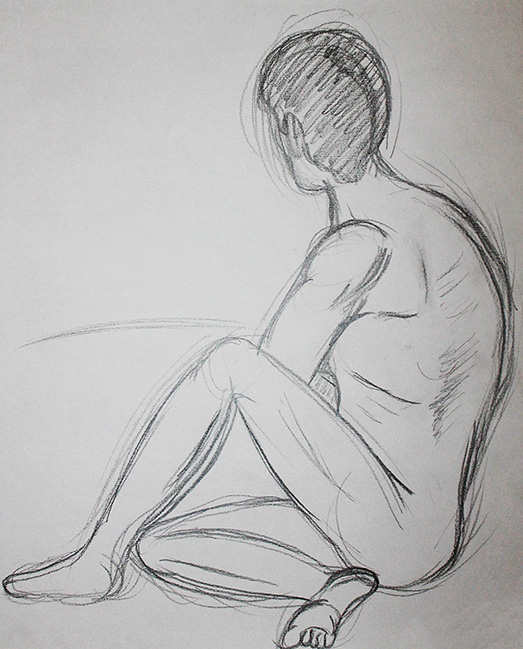Male Model Sitting