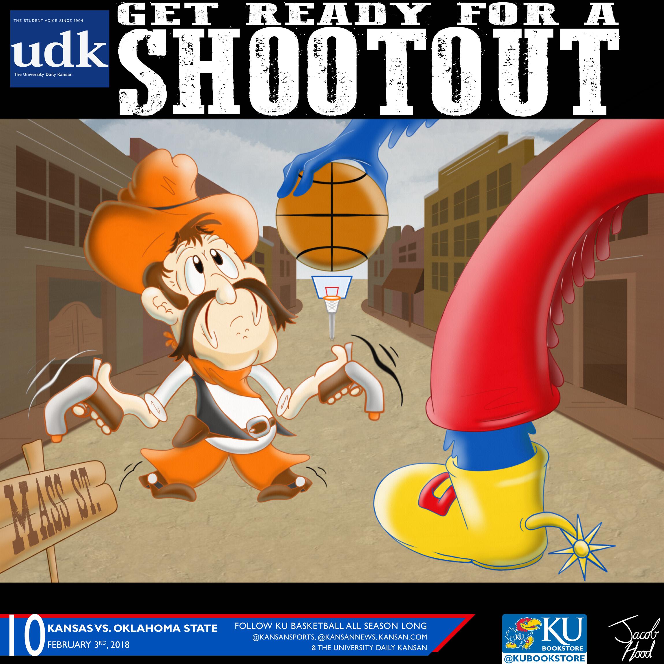 University Daily Kansan Basketball Gameday Poster - Oklahoma State 2018
