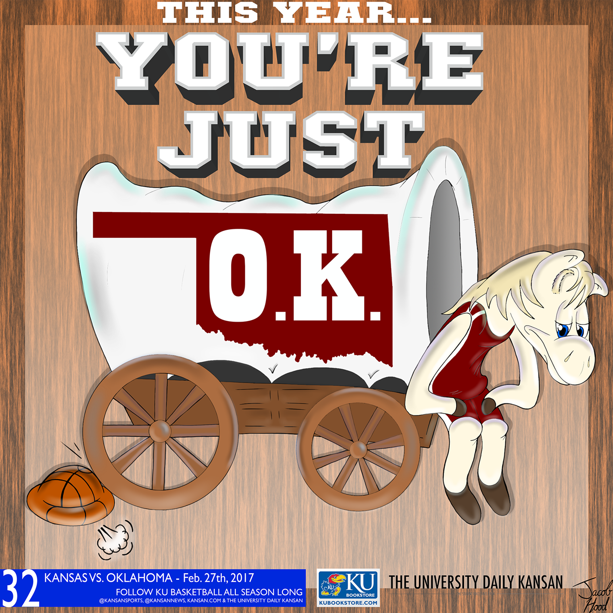 University Daily Kansan Basketball Gameday Poster - Oklahoma 2017