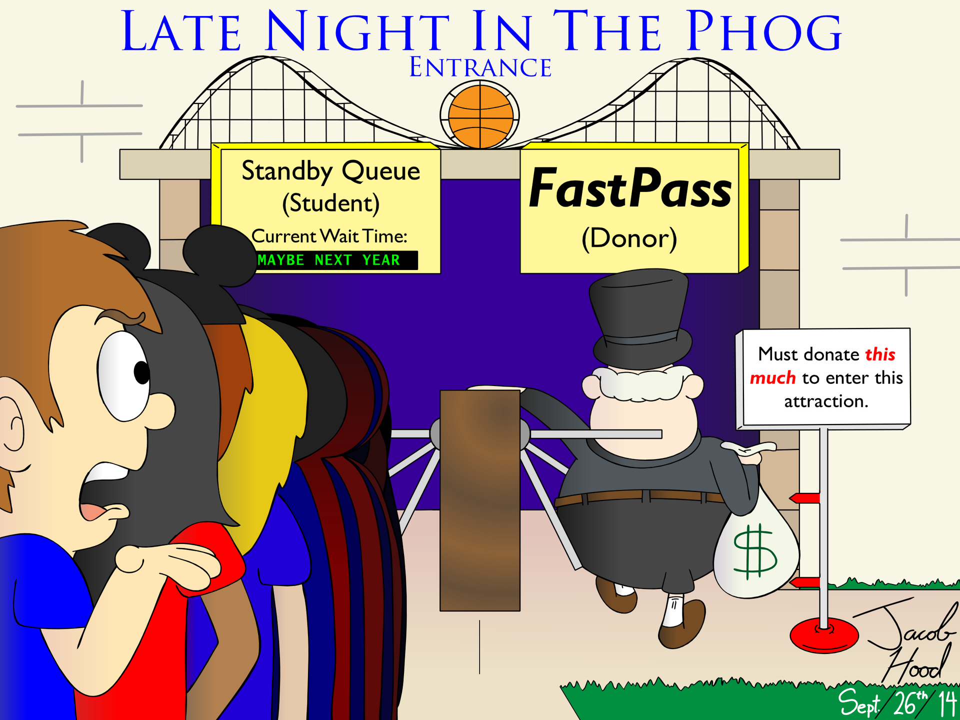 Late Night In The Phog Entrance